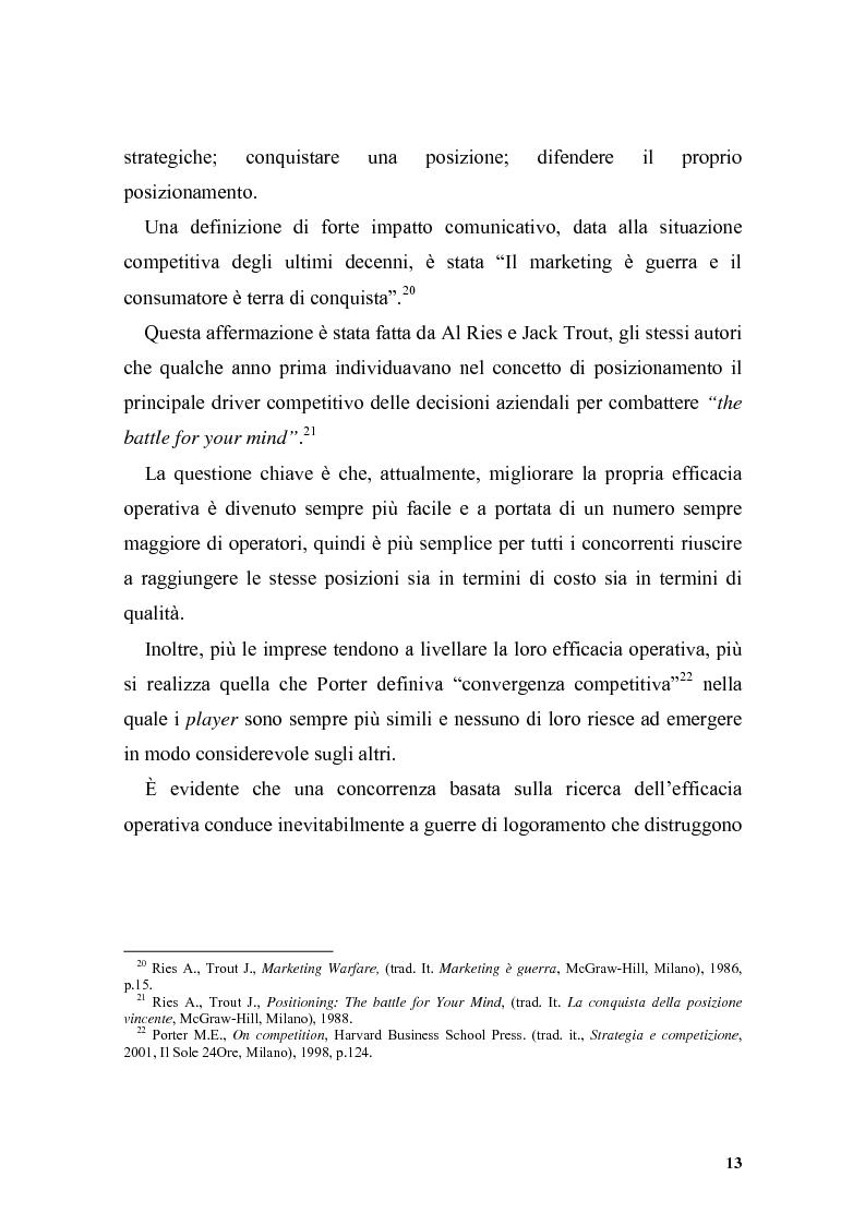 Anteprima della tesi: Il posizionamento strategico come driver competitivo, Pagina 10
