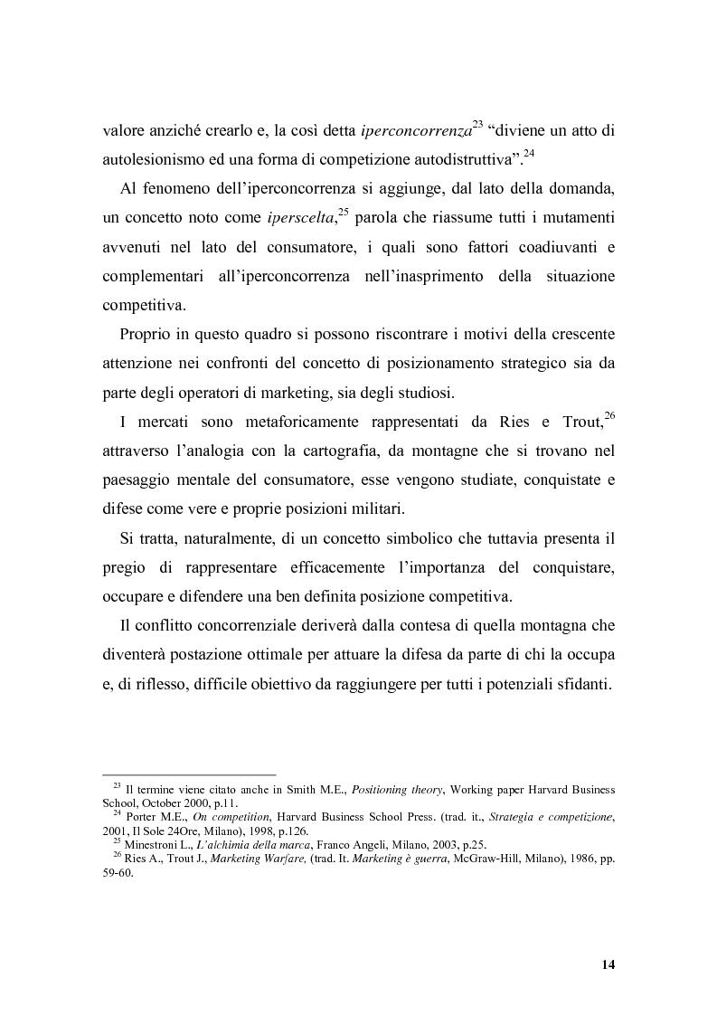 Anteprima della tesi: Il posizionamento strategico come driver competitivo, Pagina 11