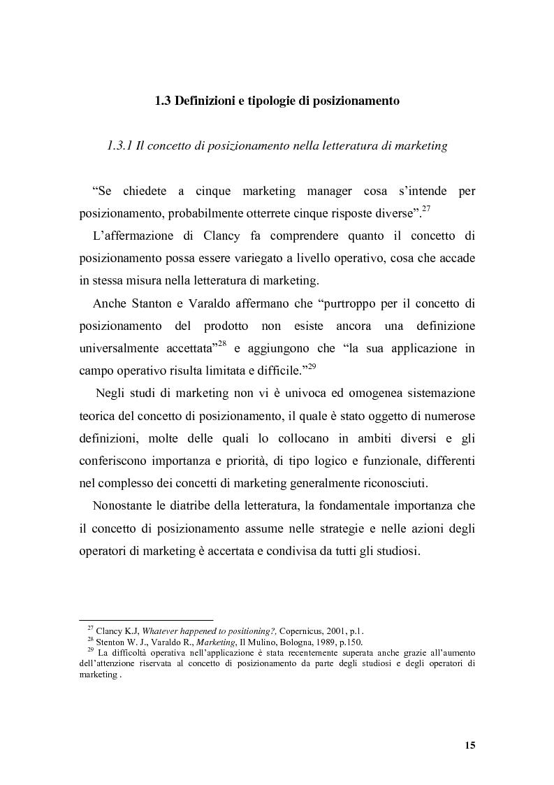 Anteprima della tesi: Il posizionamento strategico come driver competitivo, Pagina 12