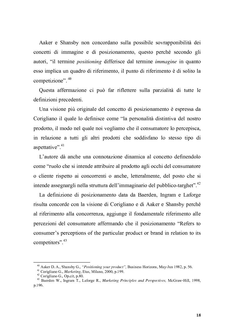 Anteprima della tesi: Il posizionamento strategico come driver competitivo, Pagina 15