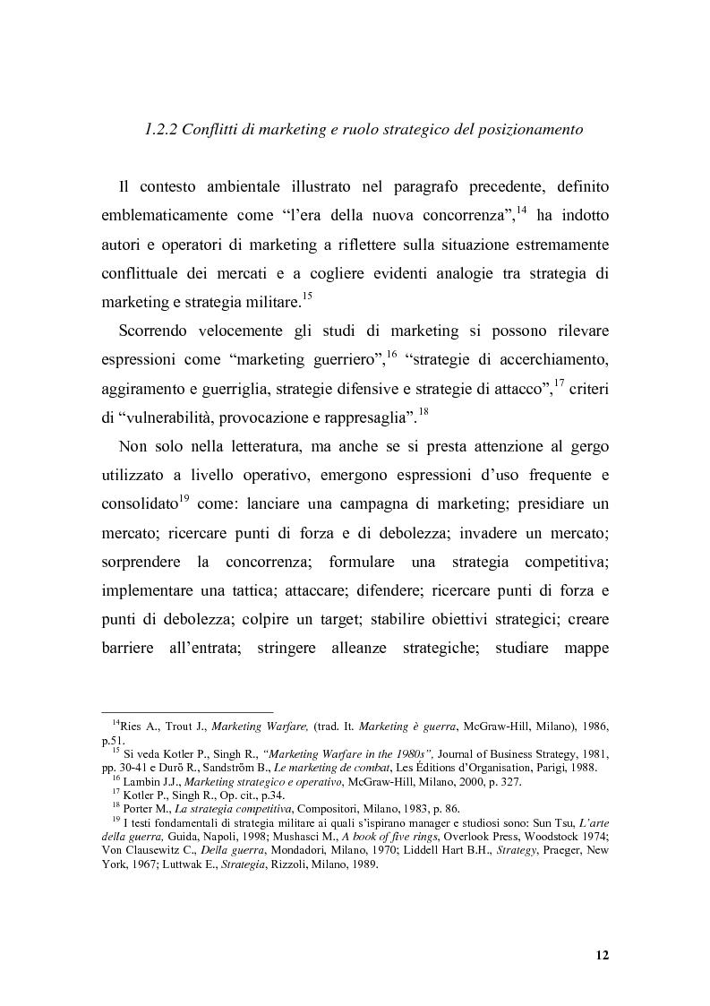 Anteprima della tesi: Il posizionamento strategico come driver competitivo, Pagina 9