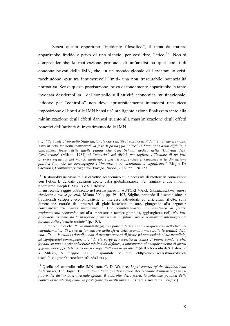Anteprima della tesi: Il c.d. Approccio transnazionale al controllo delle attività delle imprese multinazionali: il fenomeno dei codici di condotta privati, Pagina 5
