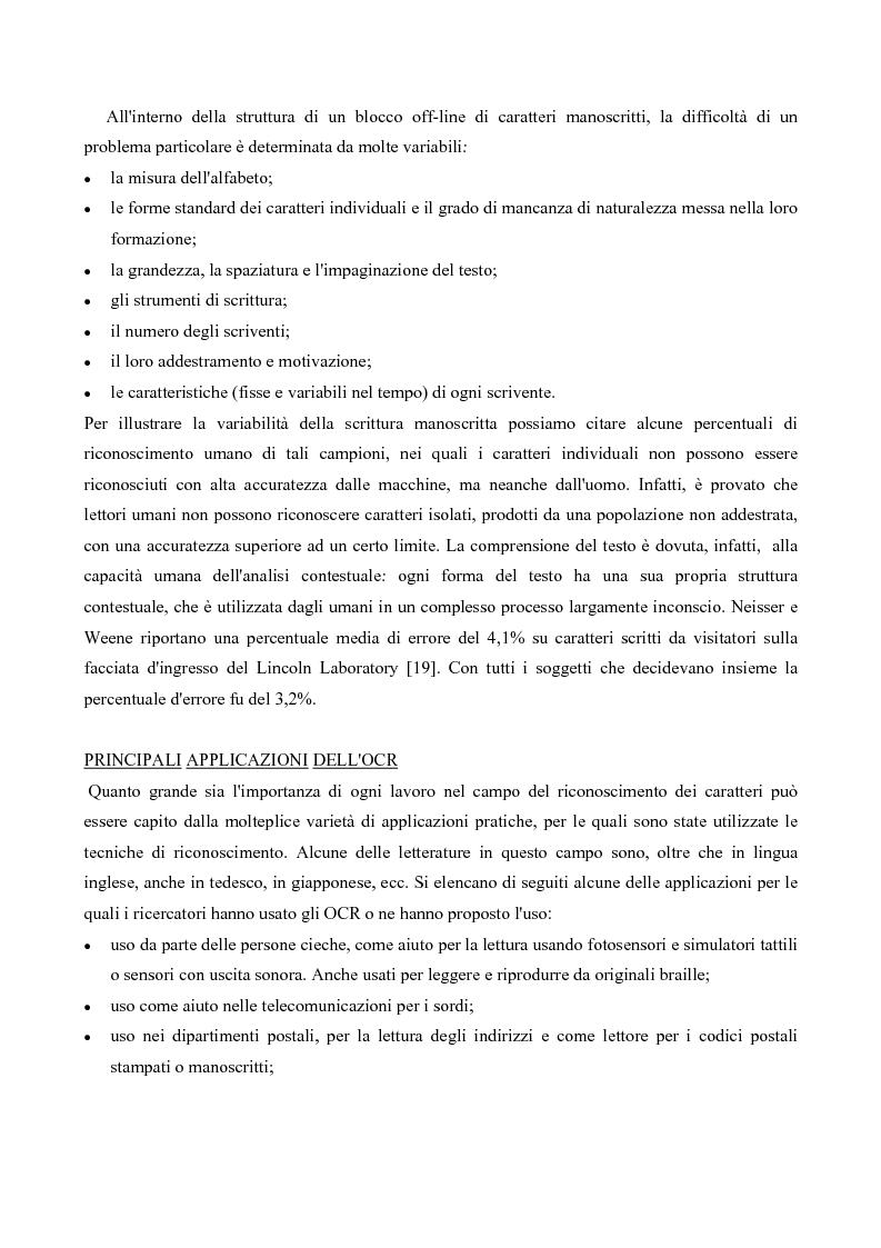 Anteprima della tesi: Riconoscimento Di Caratteri Manoscritti Mediante Rete Neurale Addestrata Con Algoritmo Costruttivo Topologico, Pagina 3