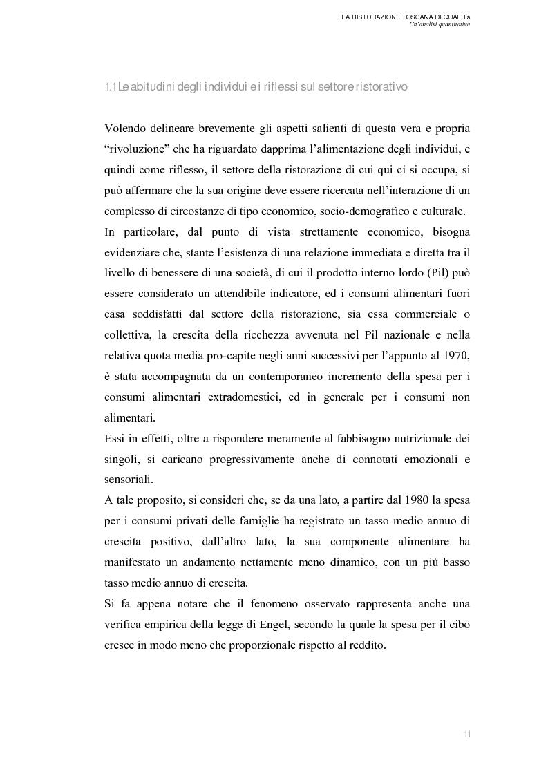 Anteprima della tesi: La Ristorazione Toscana di Qualità - Un'analisi quantitativa, Pagina 6