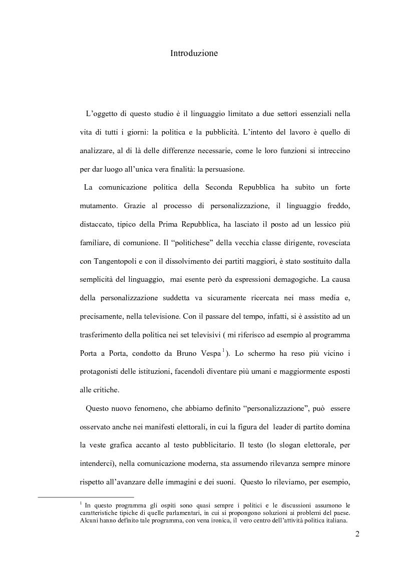 Anteprima della tesi: La retorica tra propaganda e pubblicità, Pagina 1