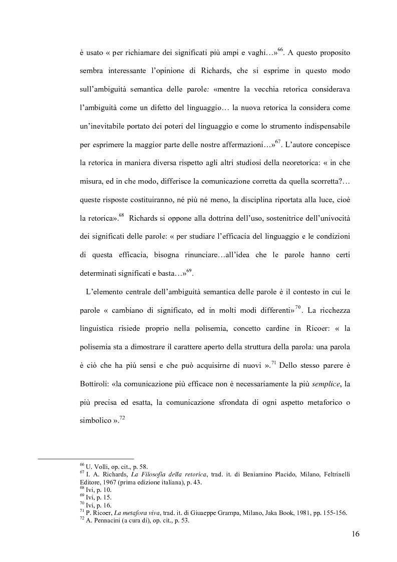 Anteprima della tesi: La retorica tra propaganda e pubblicità, Pagina 15