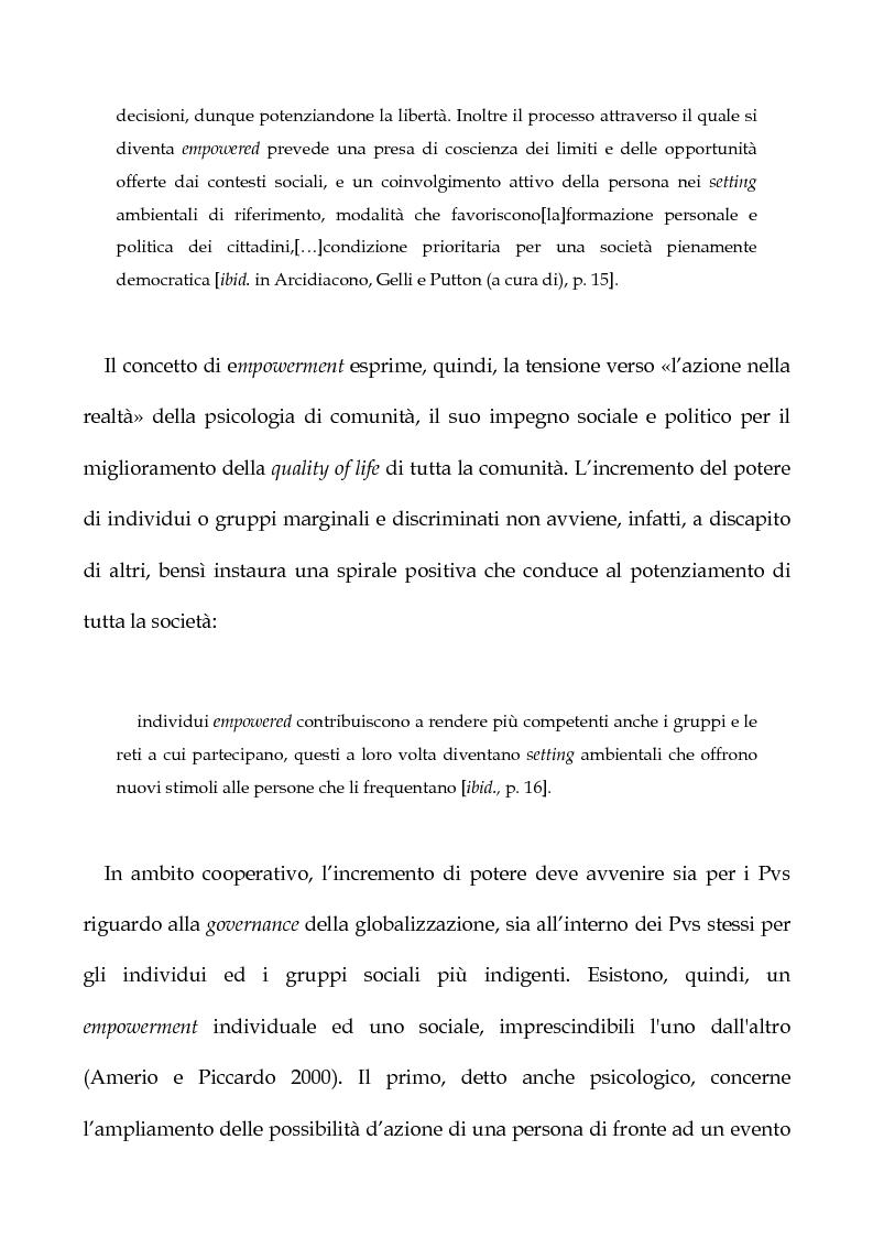 Anteprima della tesi: Cooperazione Internazionale allo sviluppo nella prospettiva della psicologia di comunità, con particolare riferimento agli interventi d'emergenza umanitaria, Pagina 11