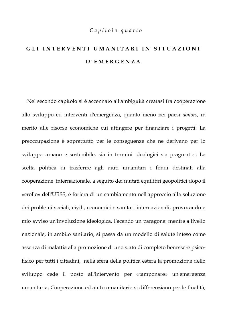 Anteprima della tesi: Cooperazione Internazionale allo sviluppo nella prospettiva della psicologia di comunità, con particolare riferimento agli interventi d'emergenza umanitaria, Pagina 13