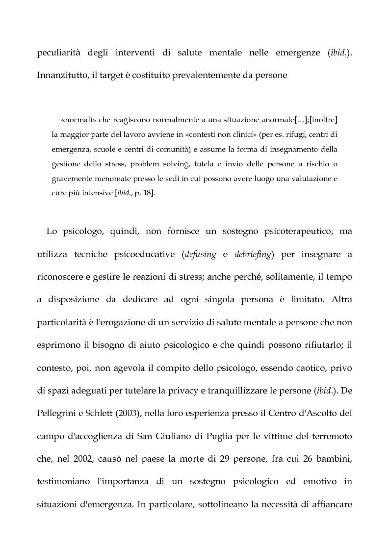 Anteprima della tesi: Cooperazione Internazionale allo sviluppo nella prospettiva della psicologia di comunità, con particolare riferimento agli interventi d'emergenza umanitaria, Pagina 16