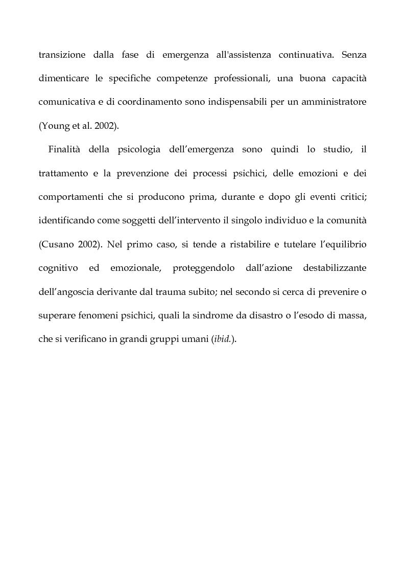 Anteprima della tesi: Cooperazione Internazionale allo sviluppo nella prospettiva della psicologia di comunità, con particolare riferimento agli interventi d'emergenza umanitaria, Pagina 18