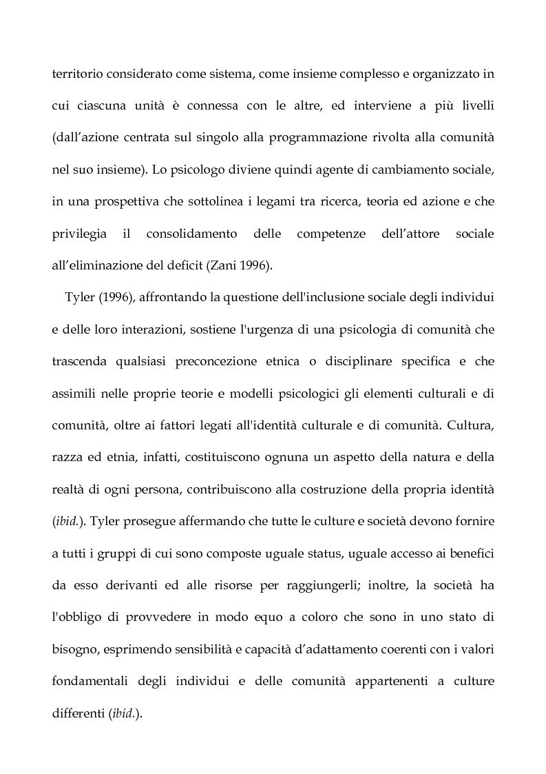 Anteprima della tesi: Cooperazione Internazionale allo sviluppo nella prospettiva della psicologia di comunità, con particolare riferimento agli interventi d'emergenza umanitaria, Pagina 9