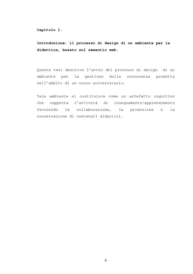 Anteprima della tesi: La catalogazione semantica dei contenuti didattici, Pagina 1