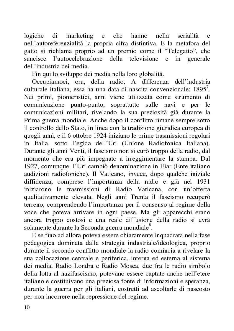 Anteprima della tesi: Radio Futuro. Tecnologie digitali e recupero della memoria. Il caso Rai-Radioscrigno, Pagina 6