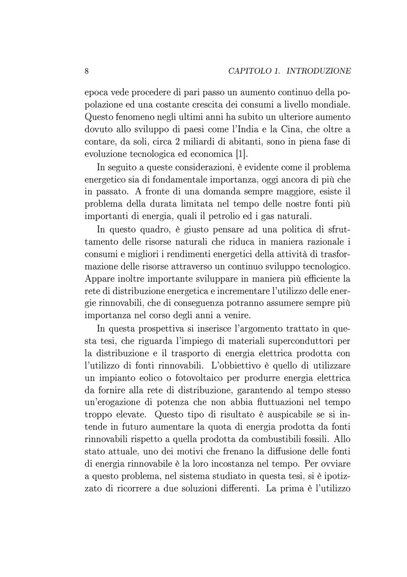 Anteprima della tesi: Utilizzo della Tecnologia Superconduttiva per la Connessione di Generatori Eolici alla Rete di Trasmissione in Corrente Alternata., Pagina 2
