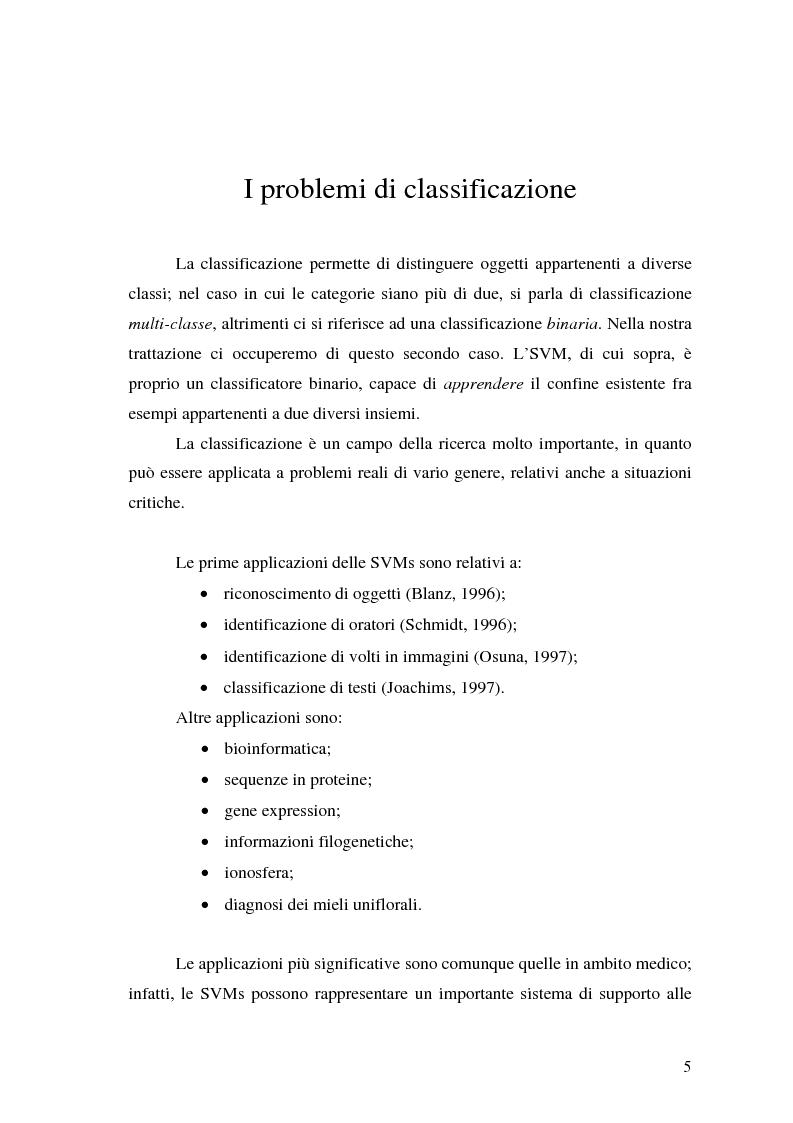 Anteprima della tesi: Tecniche di classificazione basate sulla separazione sferica di insiemi, Pagina 4