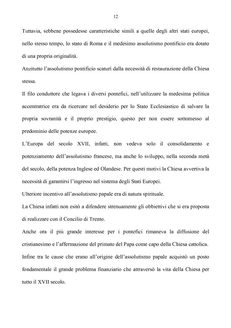 Anteprima della tesi: Benevento tra Stato della Chiesa e Regno di Napoli: politica e amministrazione nel XVII secolo, Pagina 12