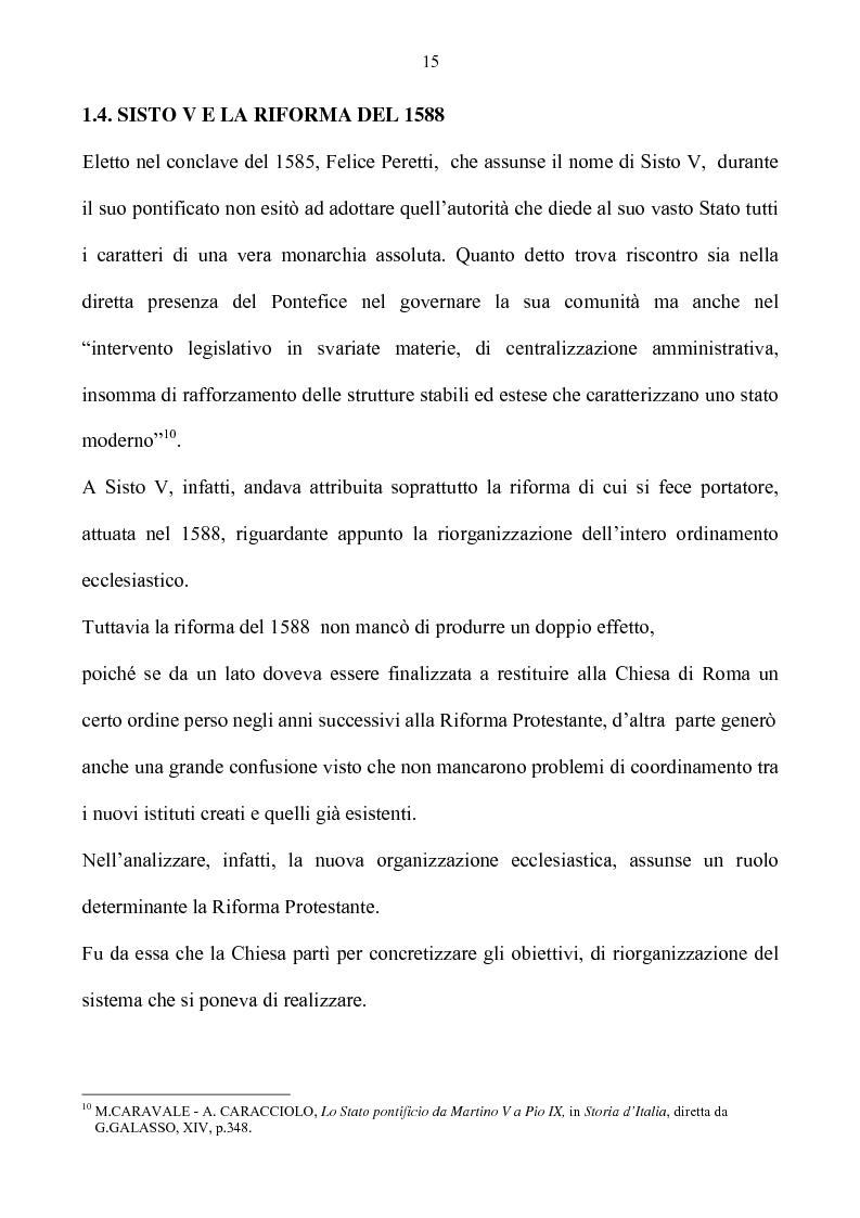 Anteprima della tesi: Benevento tra Stato della Chiesa e Regno di Napoli: politica e amministrazione nel XVII secolo, Pagina 15