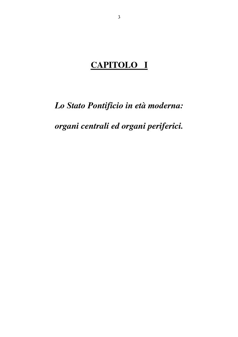 Anteprima della tesi: Benevento tra Stato della Chiesa e Regno di Napoli: politica e amministrazione nel XVII secolo, Pagina 3