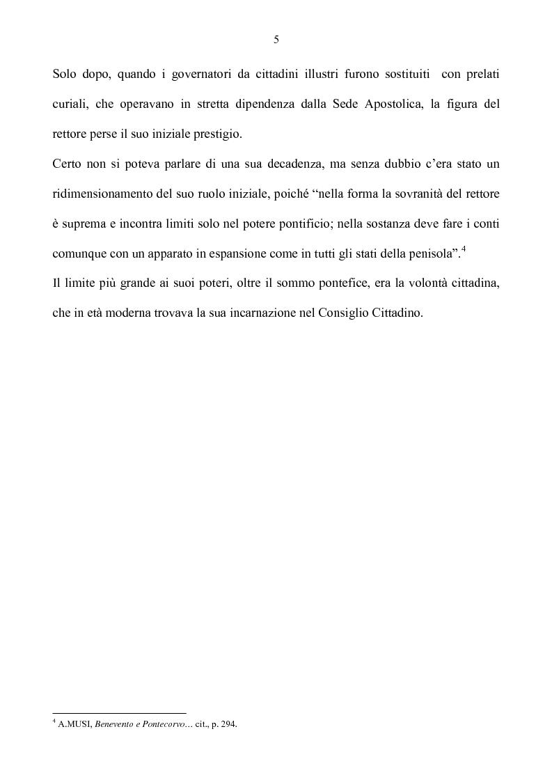 Anteprima della tesi: Benevento tra Stato della Chiesa e Regno di Napoli: politica e amministrazione nel XVII secolo, Pagina 5