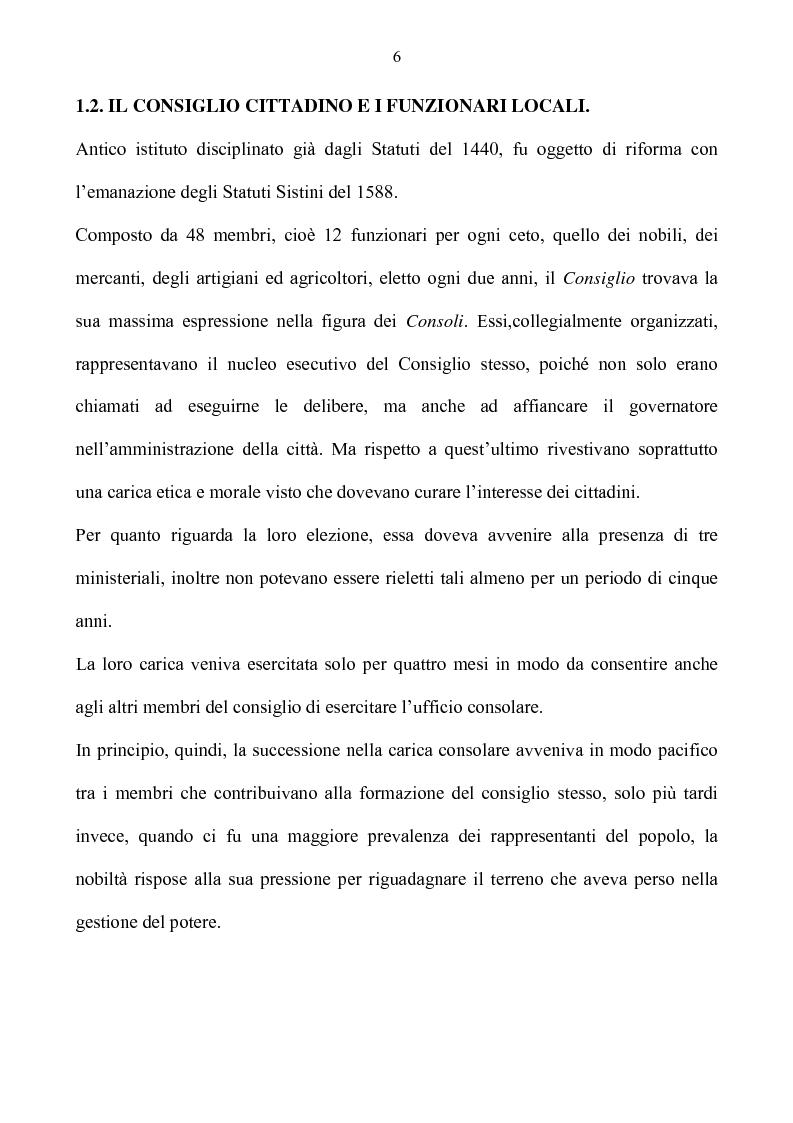 Anteprima della tesi: Benevento tra Stato della Chiesa e Regno di Napoli: politica e amministrazione nel XVII secolo, Pagina 6