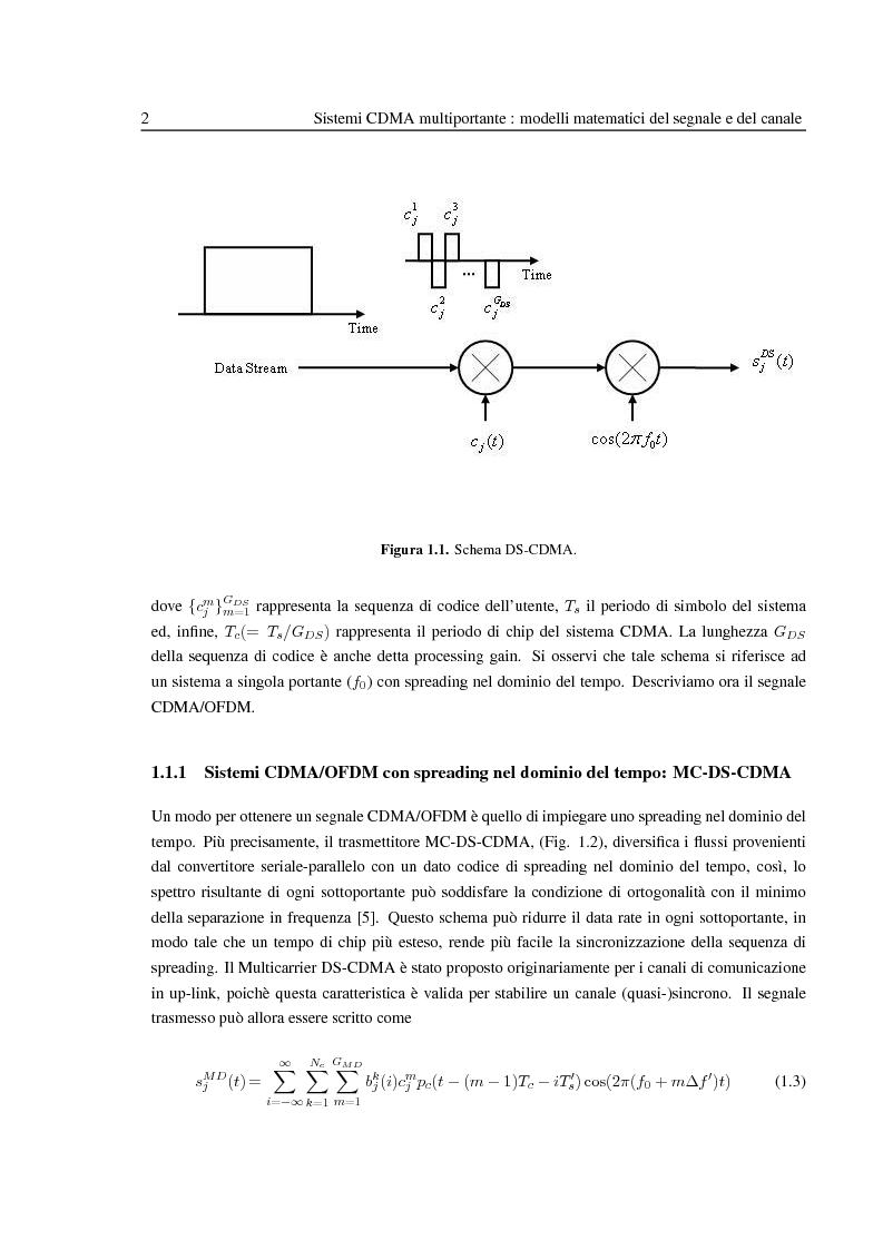 Anteprima della tesi: Ricezione widely-linear per sistemi multiportante CDMA con codifica spazio tempo, Pagina 4