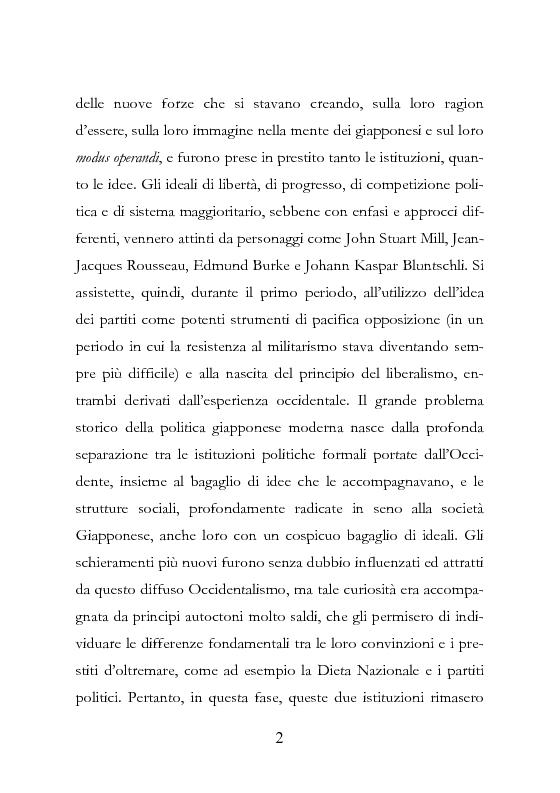 Anteprima della tesi: Democrazia Incompiuta: Analisi delle Difficoltà del Bipolarismo in Giappone, Pagina 11