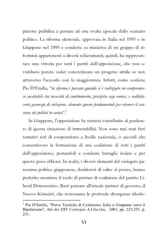 Anteprima della tesi: Democrazia Incompiuta: Analisi delle Difficoltà del Bipolarismo in Giappone, Pagina 2
