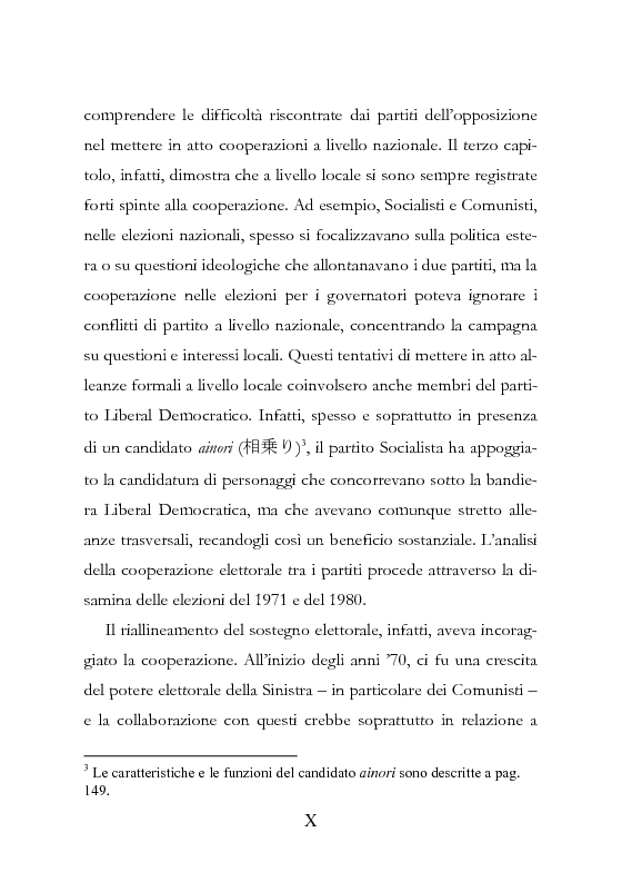 Anteprima della tesi: Democrazia Incompiuta: Analisi delle Difficoltà del Bipolarismo in Giappone, Pagina 6
