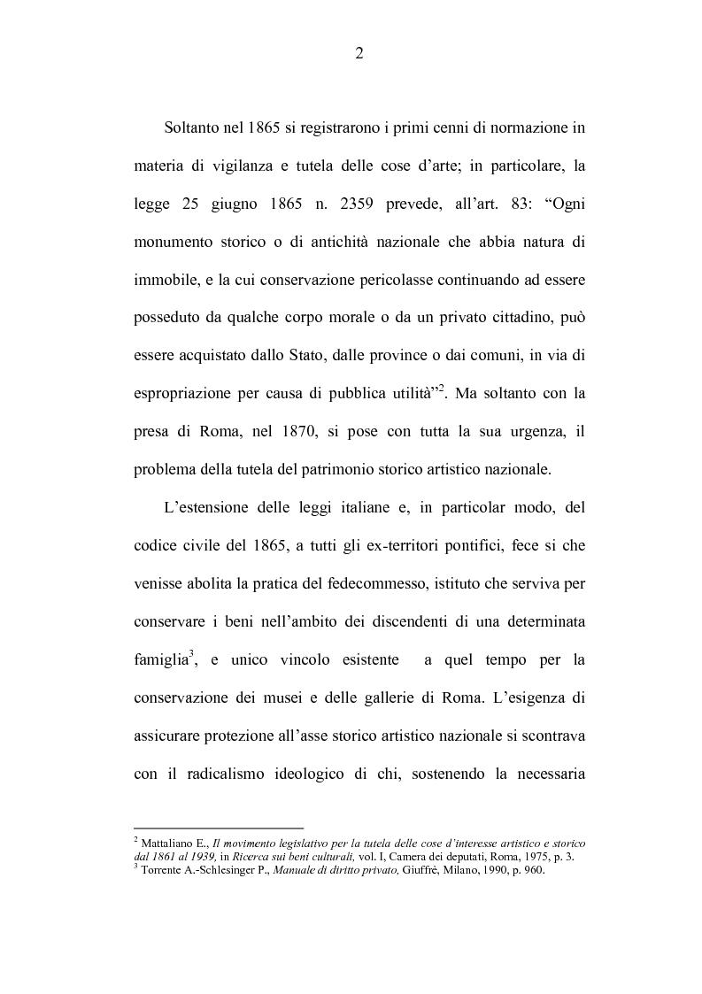 Anteprima della tesi: La tutela dei beni culturali e gli strumenti di pianificazione urbanistica, Pagina 2