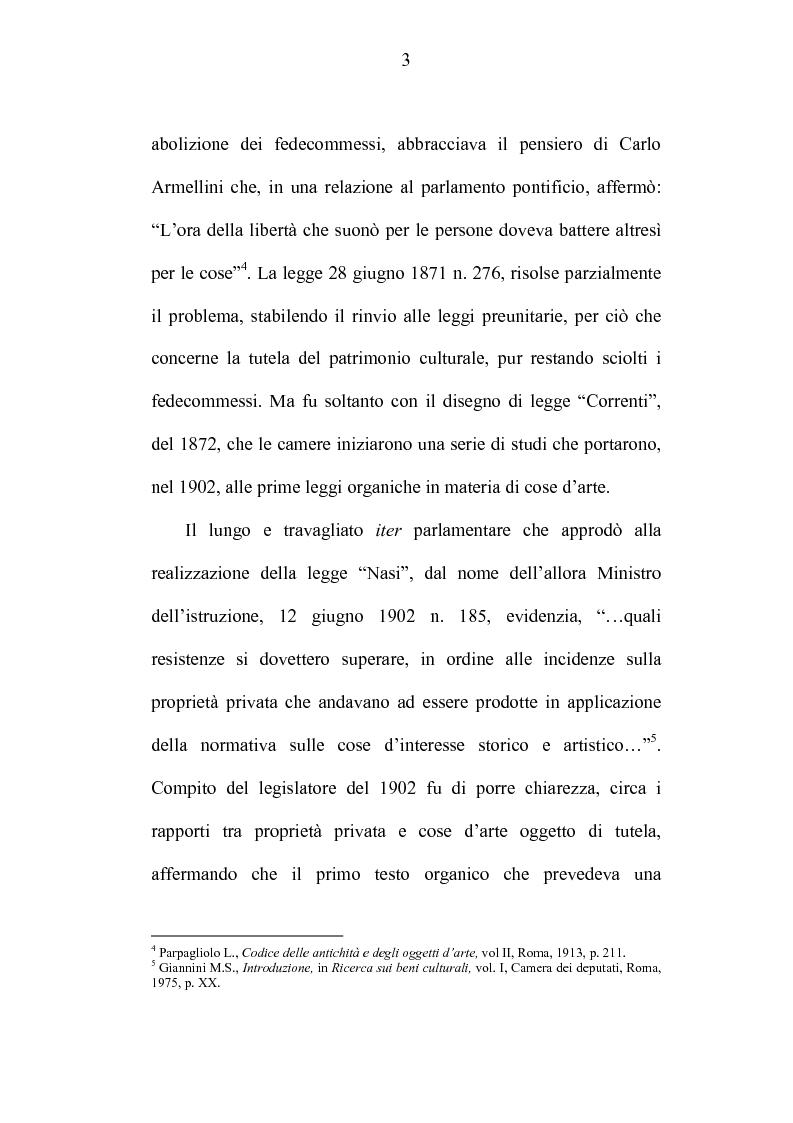 Anteprima della tesi: La tutela dei beni culturali e gli strumenti di pianificazione urbanistica, Pagina 3