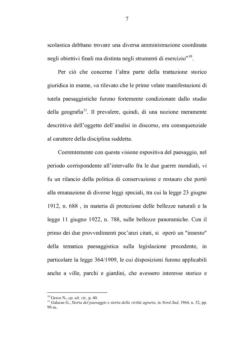 Anteprima della tesi: La tutela dei beni culturali e gli strumenti di pianificazione urbanistica, Pagina 7