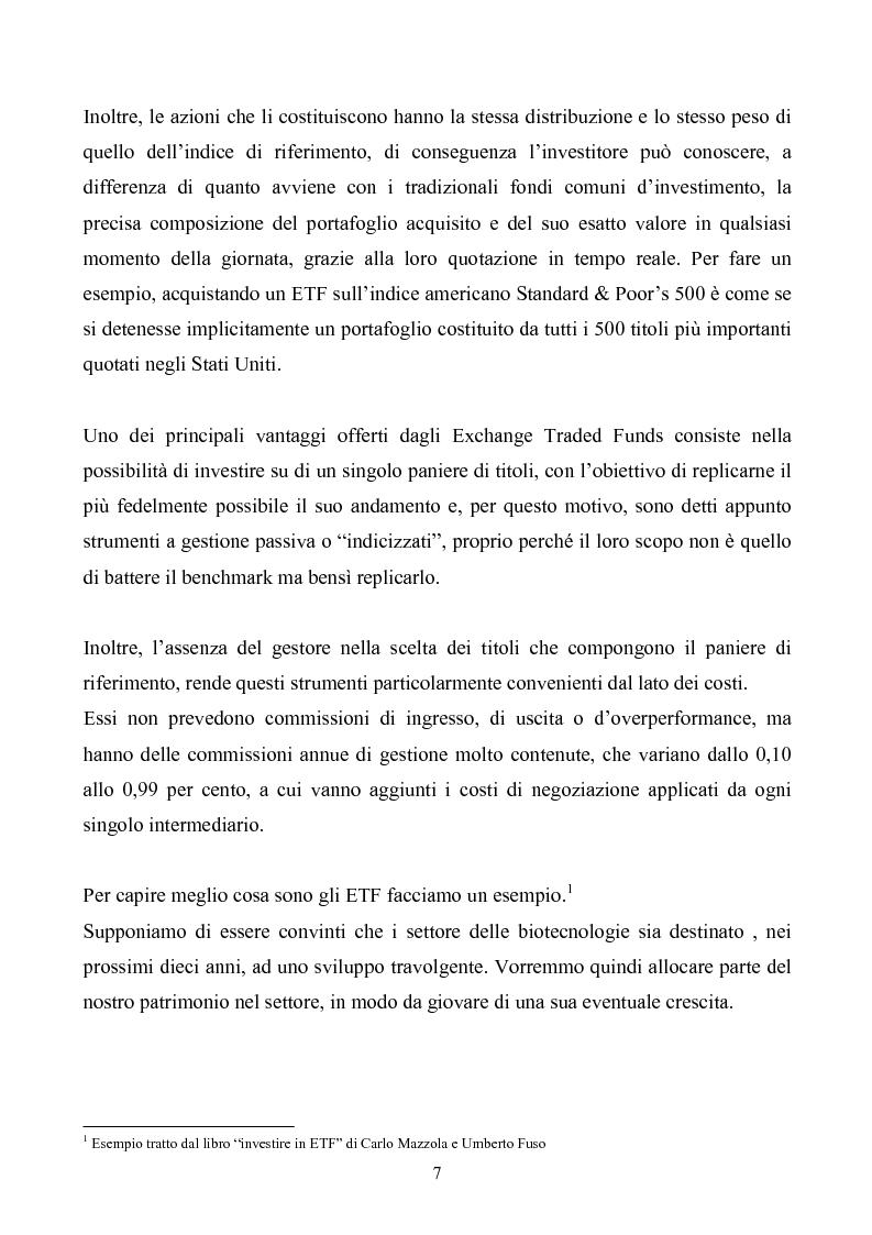 Anteprima della tesi: ETF-fondi a gestione passiva, Pagina 5