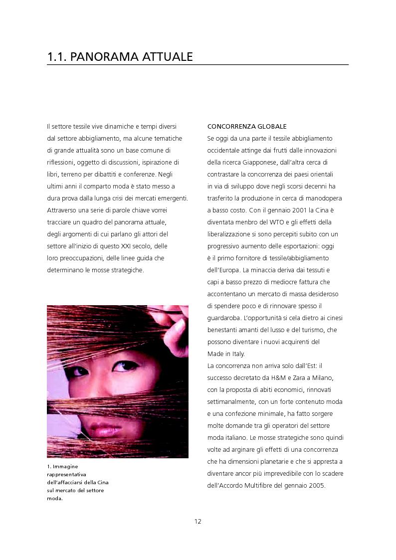 Anteprima della tesi: Il ruolo del design di moda per una strategia di sviluppo e di diffusione dell'innovazione tessile. Applicazione dei tessuti a rilascio di sostanza JL Well Being/Bayer Chemicals Italia per la linea Imec Sentirsi Bene., Pagina 3