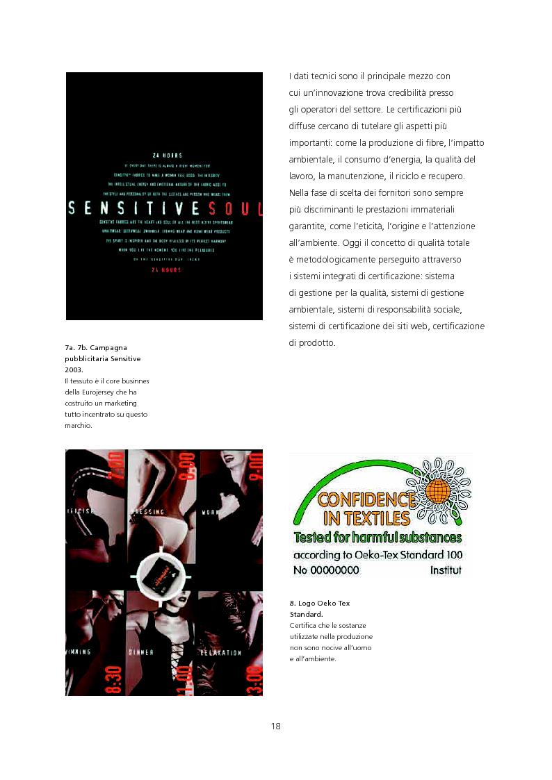 Anteprima della tesi: Il ruolo del design di moda per una strategia di sviluppo e di diffusione dell'innovazione tessile. Applicazione dei tessuti a rilascio di sostanza JL Well Being/Bayer Chemicals Italia per la linea Imec Sentirsi Bene., Pagina 9