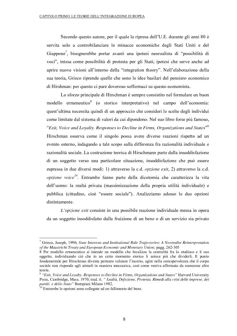 Anteprima della tesi: La politica commerciale europea: un'analisi di principal-agent theory, Pagina 6