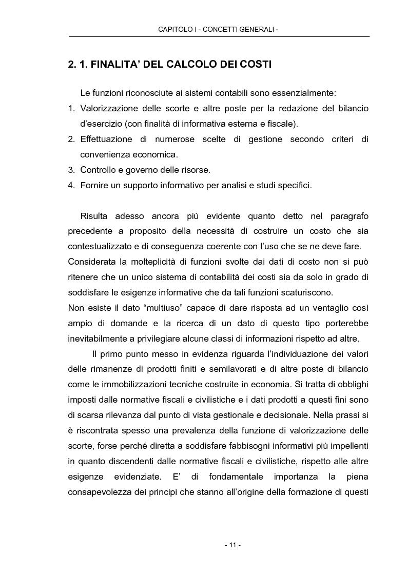 Anteprima della tesi: Cost Management: il caso Beta Plastics, Pagina 11
