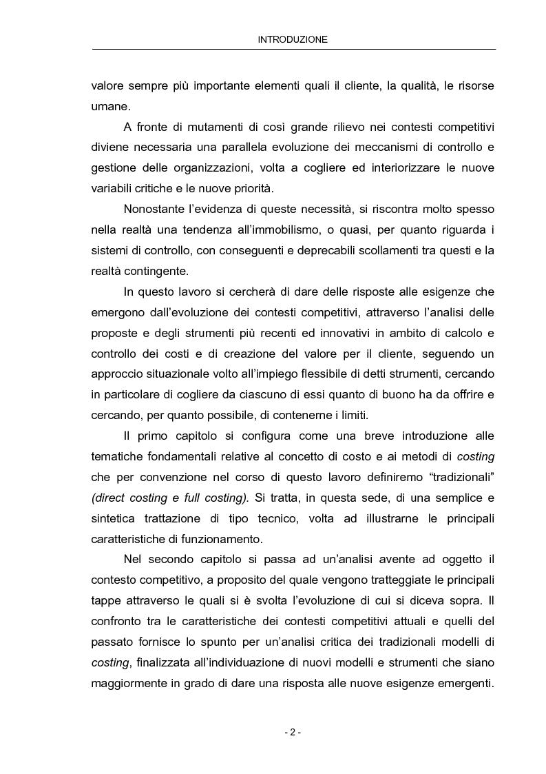 Anteprima della tesi: Cost Management: il caso Beta Plastics, Pagina 2