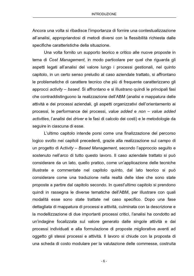 Anteprima della tesi: Cost Management: il caso Beta Plastics, Pagina 6