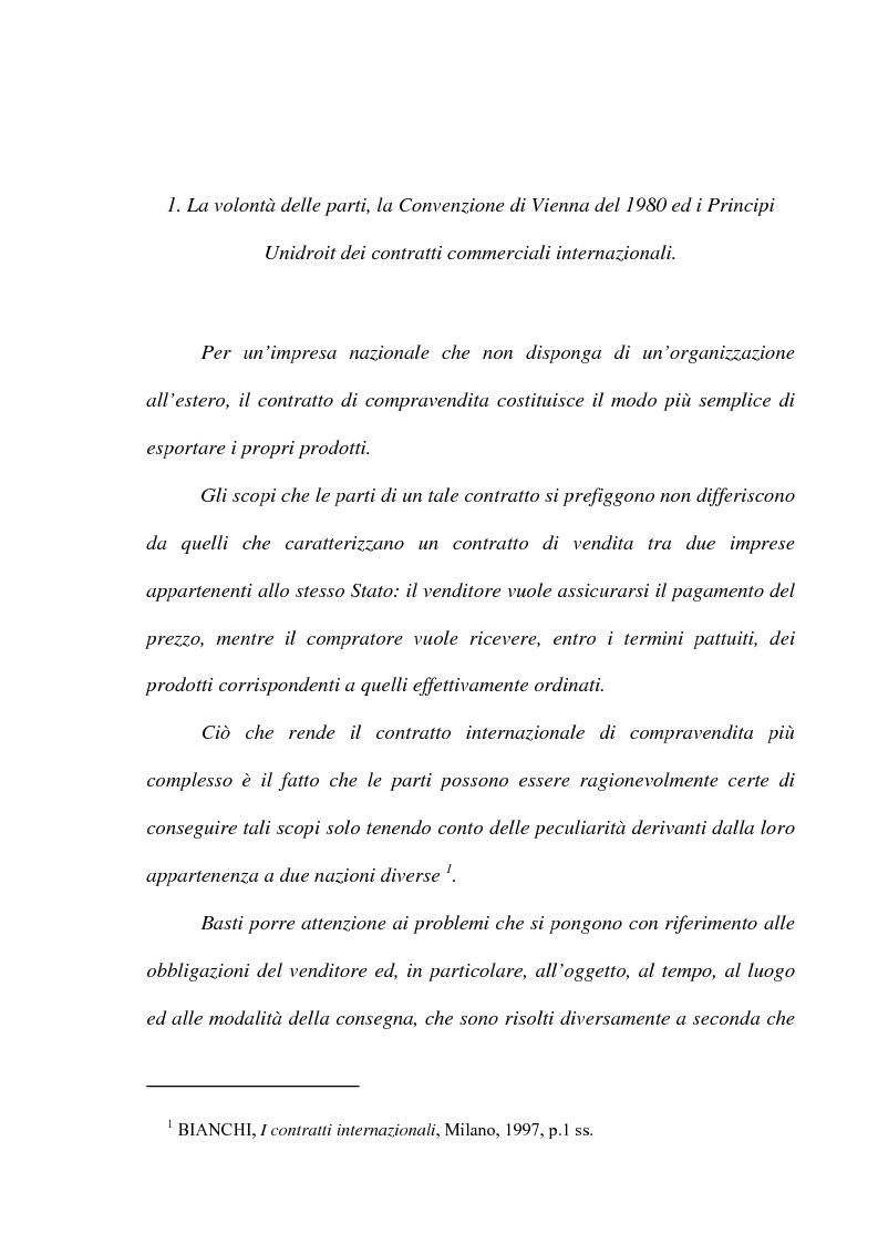 Anteprima della tesi: L' obbligazione di conformità dei beni nella compravendita internazionale, Pagina 3
