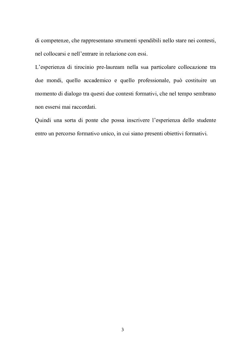 Anteprima della tesi: Resoconto sull'esperienza di tirocinio all'interno del percorso della laurea triennale, Pagina 3