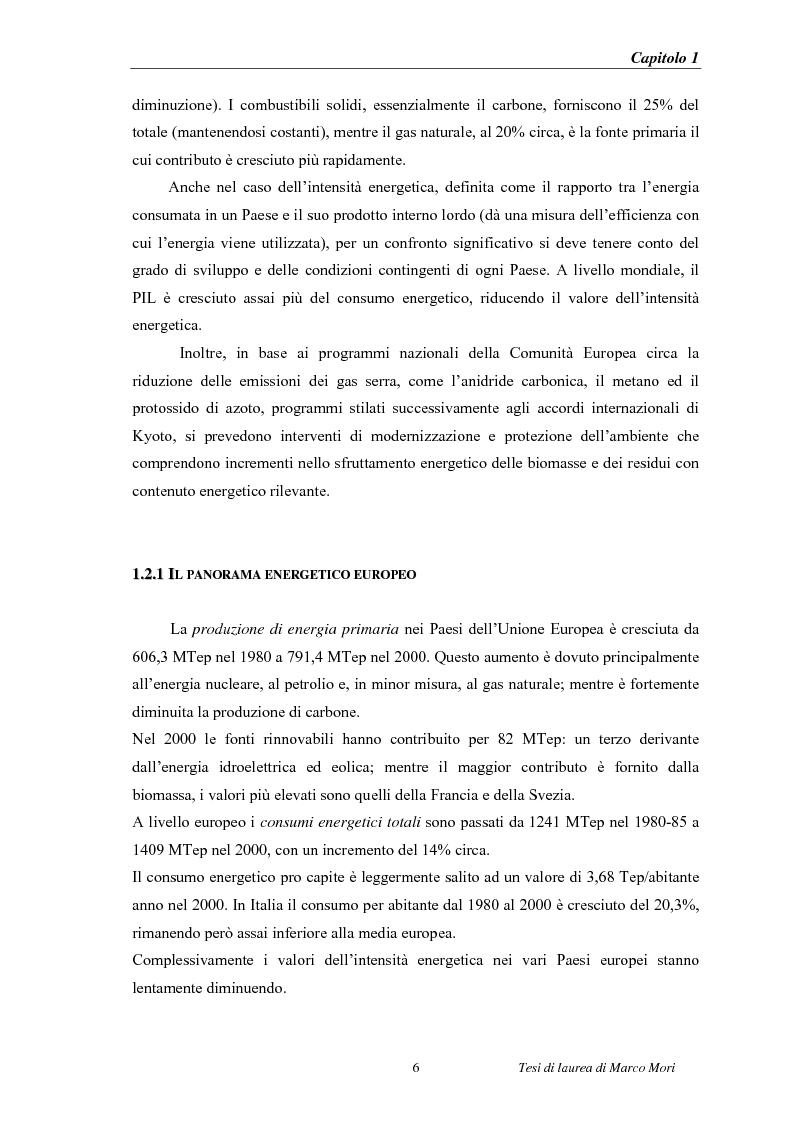 Anteprima della tesi: Produzione di energia elettrica distribuita da impianti di gassificazione, Pagina 6
