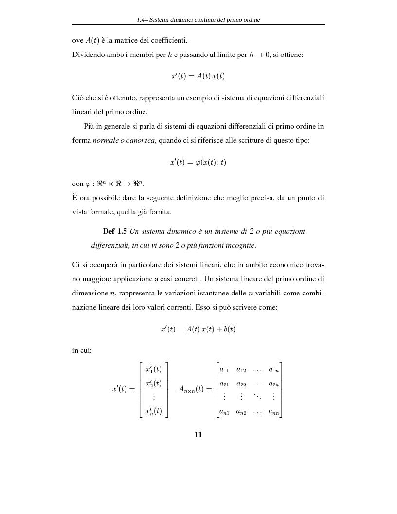 Anteprima della tesi: Sistemi dinamici: questioni di stabilità ed applicazioni economiche, Pagina 14