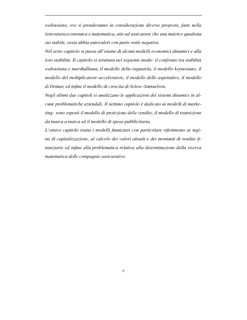 Anteprima della tesi: Sistemi dinamici: questioni di stabilità ed applicazioni economiche, Pagina 3