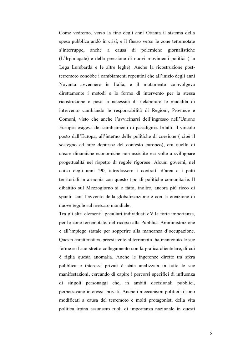 Anteprima della tesi: Irpinia storia e memoria del terremoto, Pagina 5