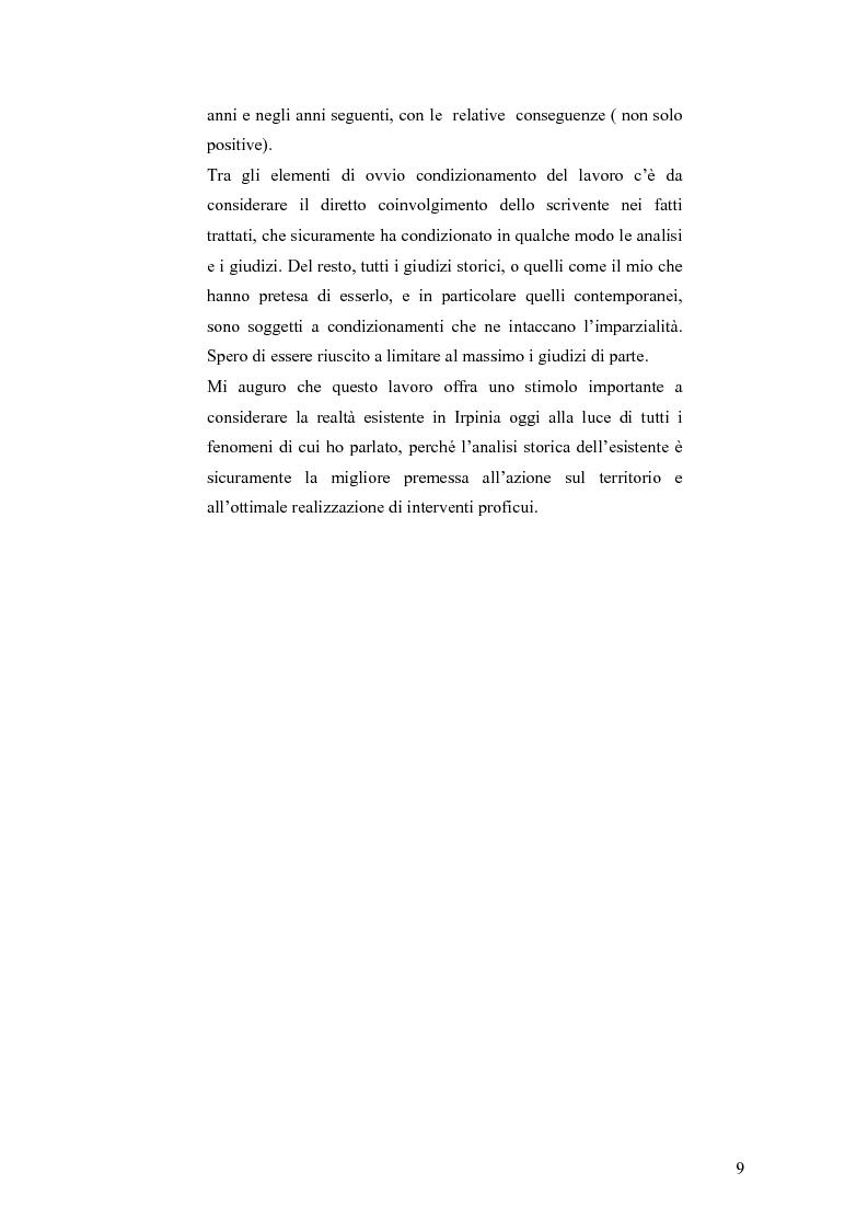 Anteprima della tesi: Irpinia storia e memoria del terremoto, Pagina 6