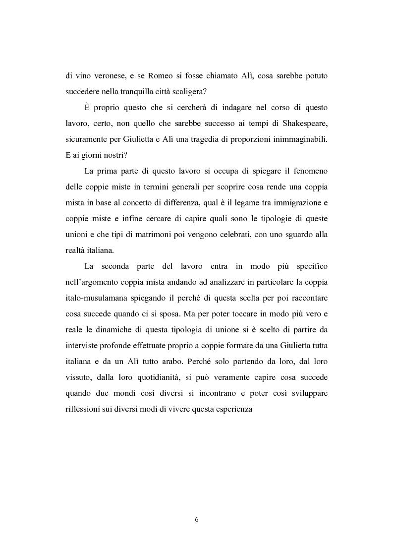 Anteprima della tesi: E se Romeo si chiamasse Alì? Le coppie italo-musulmane, Pagina 2