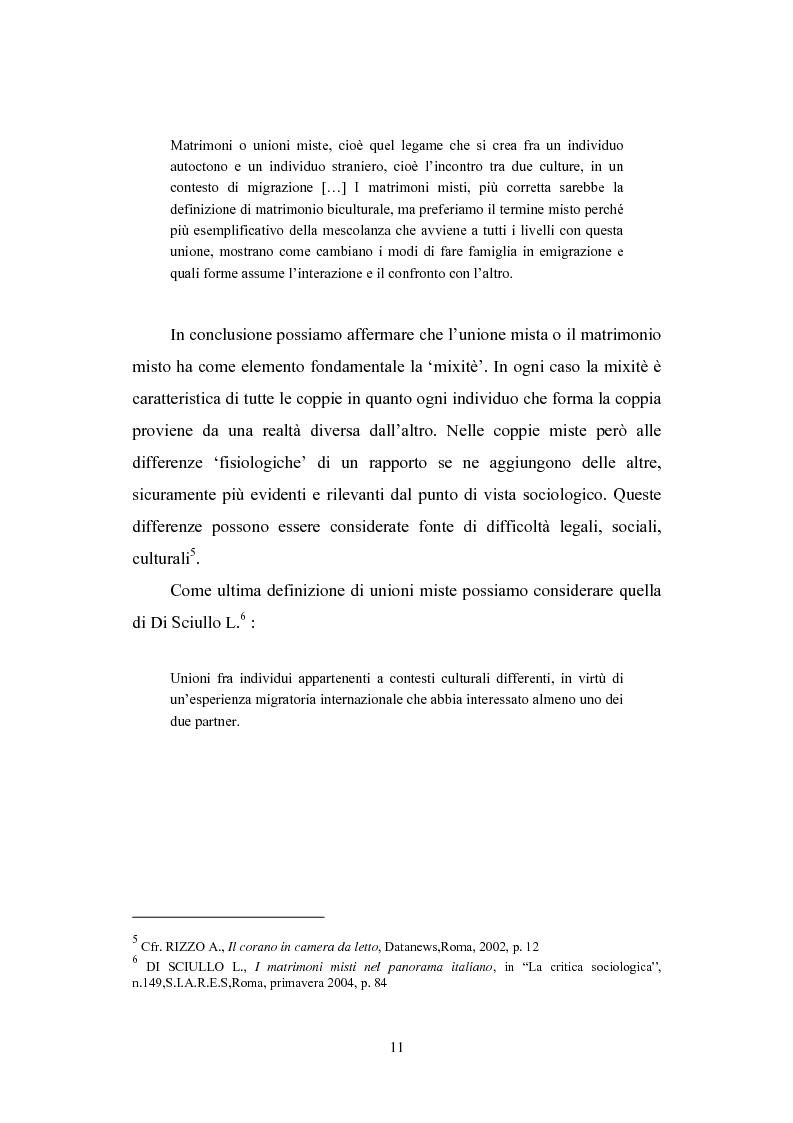 Anteprima della tesi: E se Romeo si chiamasse Alì? Le coppie italo-musulmane, Pagina 7