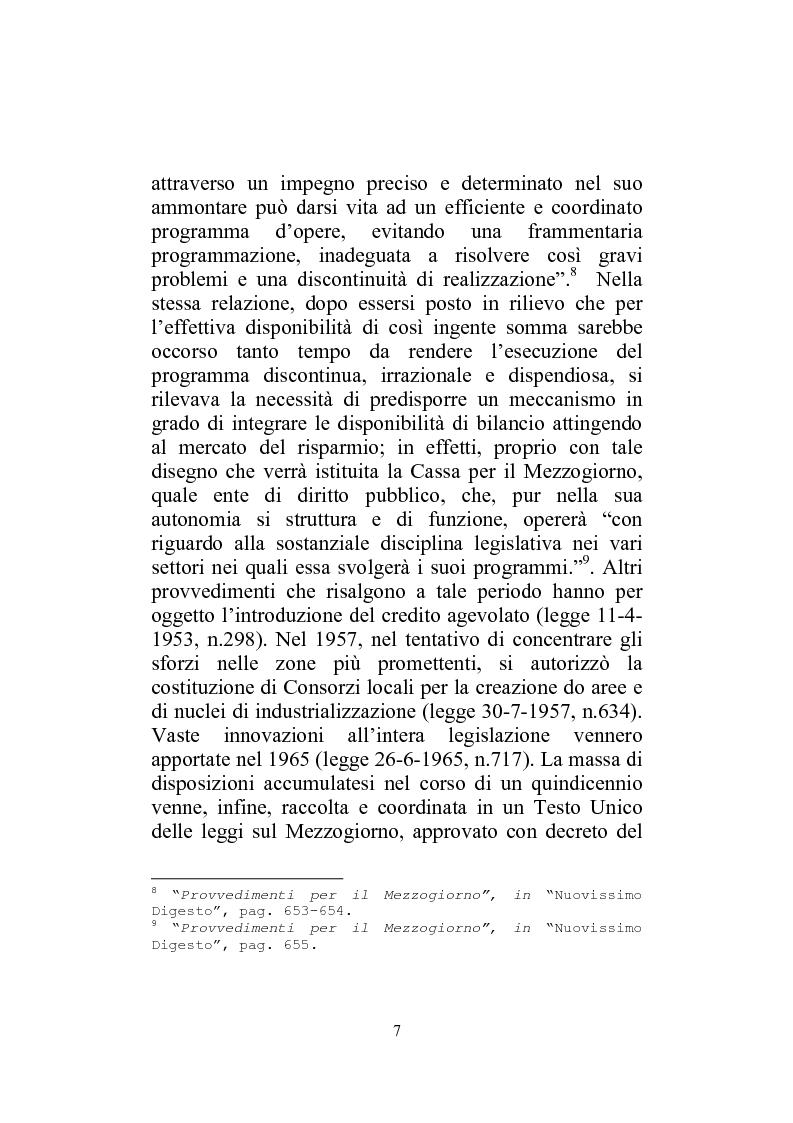 Anteprima della tesi: I Finanziamenti agevolati alle PMI nel Mezzogiorno, Pagina 12