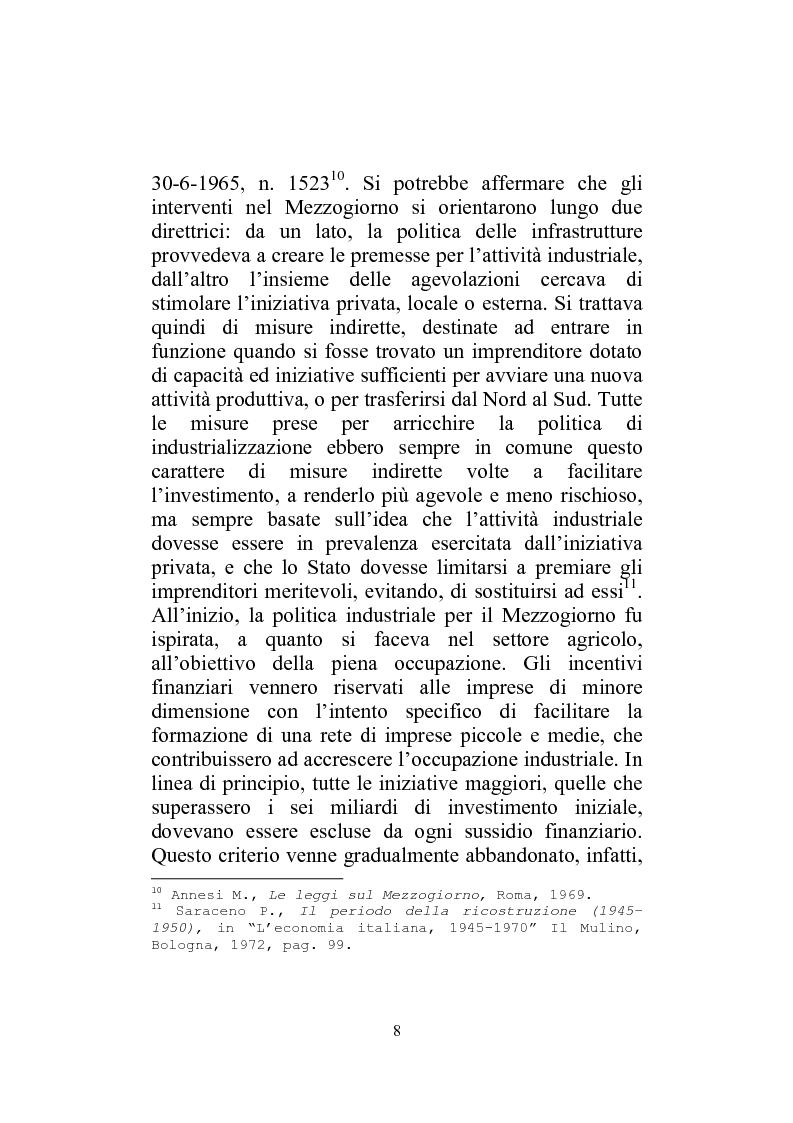 Anteprima della tesi: I Finanziamenti agevolati alle PMI nel Mezzogiorno, Pagina 13