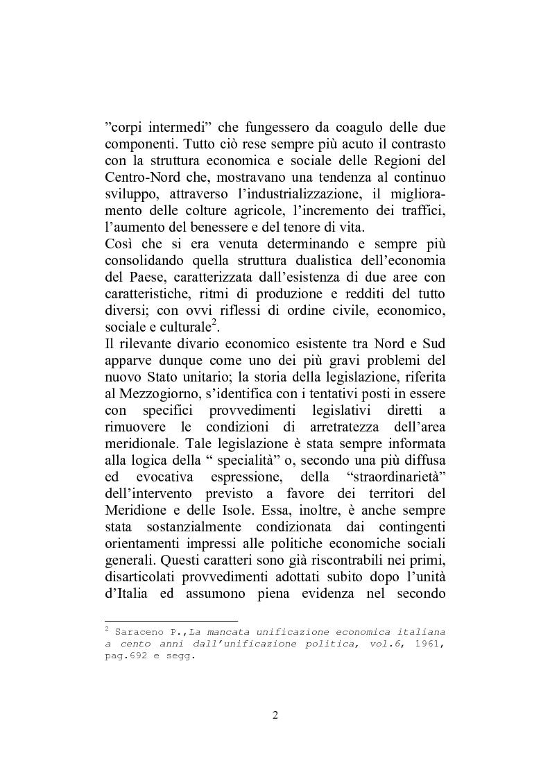Anteprima della tesi: I Finanziamenti agevolati alle PMI nel Mezzogiorno, Pagina 7